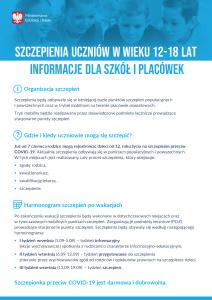 Szczepienia uczniow w wieku 12 18 lat – informacje dla szkol i placowek – plakat  212x300 Szczepienia uczniów w wieku 12 18 lat